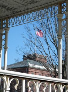Springfield Armory as seen through the Commandant's porch