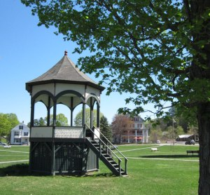 I sat in this bandstand with my ice cream and blueberry soda.