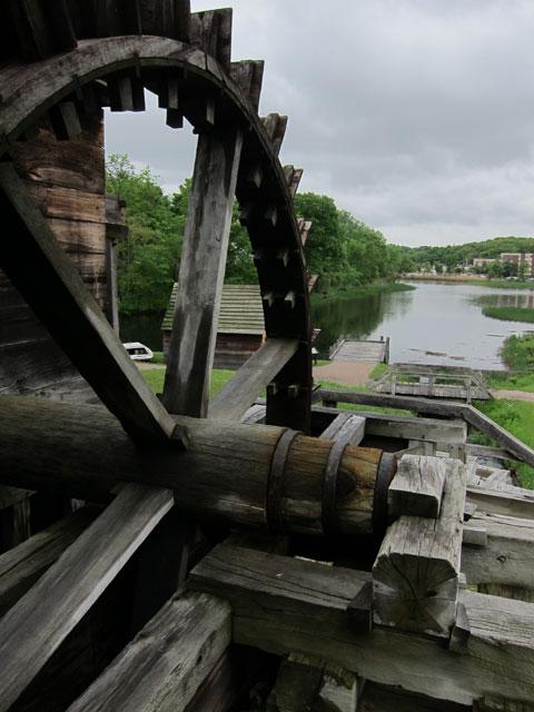 """An Undershot Waterwheel. One of five waterwheels at the """"works."""""""