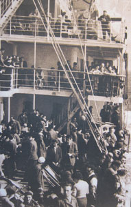 IMMIGRANTS ABOARD SHIP