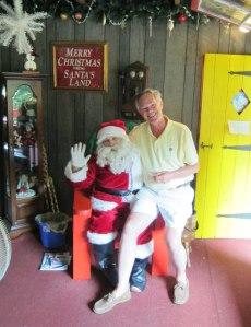 "Yes, all I want is ""good health, Santa!"""