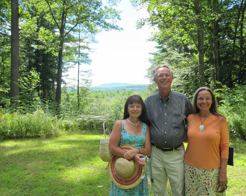 "Today's ""conspirators"" with Mount Monadnock in the distance."