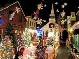 Street scene at The Christmas Loft
