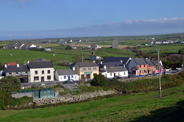 Doolin is a small fishing village, a ferry landing to the Aran Island, and dozens of resort B&Bs