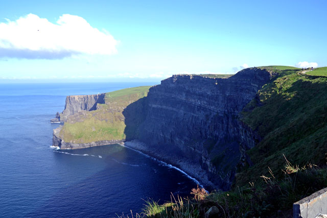 The northern end of the Cliffs of Moher from the visitor center.