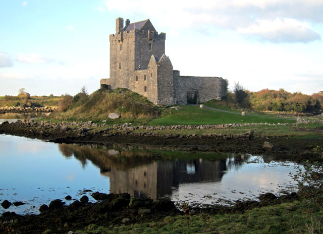 Arriving at Dunguaire Castle