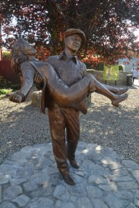 "THE QUIET MAN STATUE with ""The Duke"" and Maureen O'Hara"