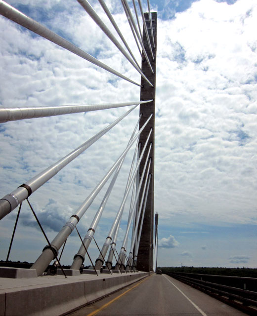 A View on the new Waldo-Hancock Bridge