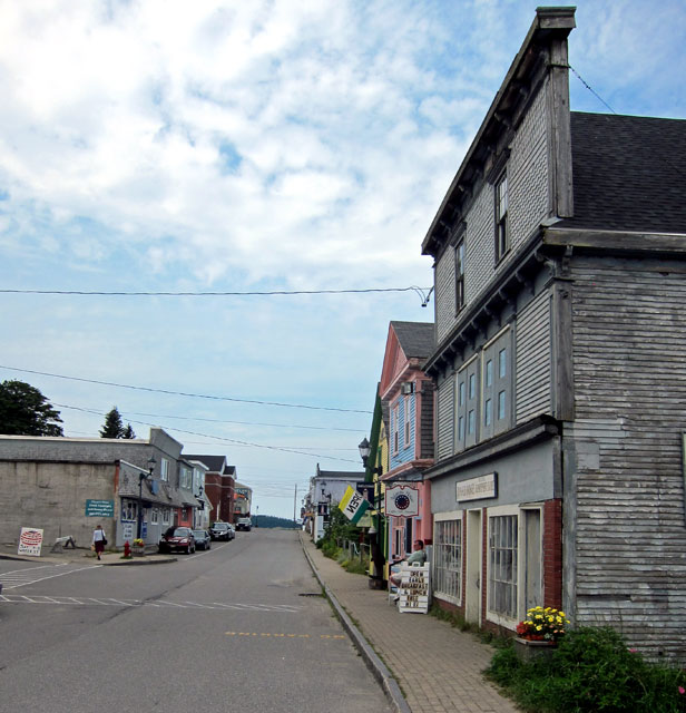 Downtown Lubec, Maine