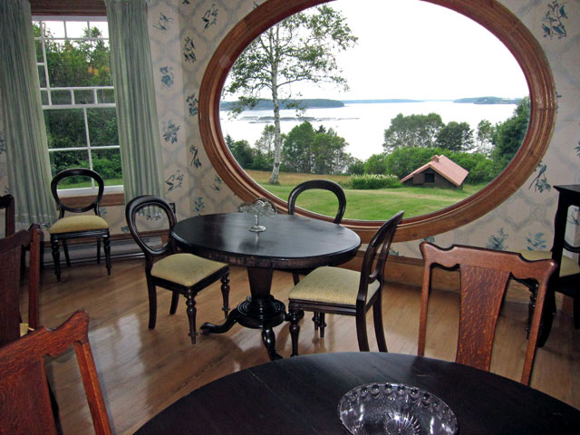 View from dining room to the bay and Maine.