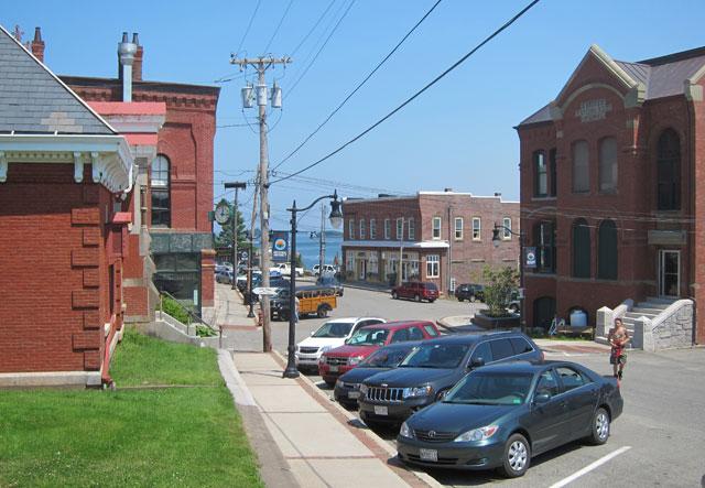 Beginning of Downtown Eastport, Maine
