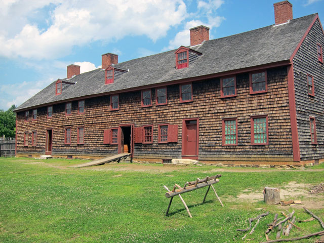 Old Fort Western, Augusta, Maine.
