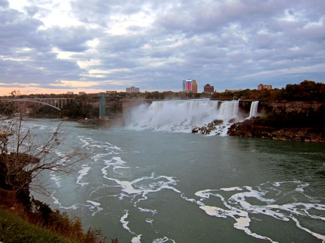 Looking back to the American Falls and Rainbow Bridge