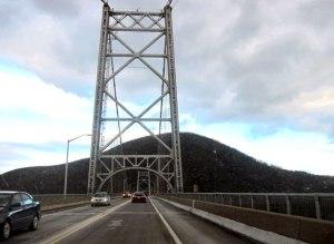 Heading east back across the Bear Mountain Bridge