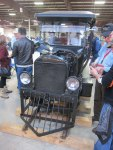 "A Model T Ford ""bus"" to run on train tracks"
