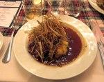 HAGGIS - roasted neeps and tatties, crispy leeks, thyme jus