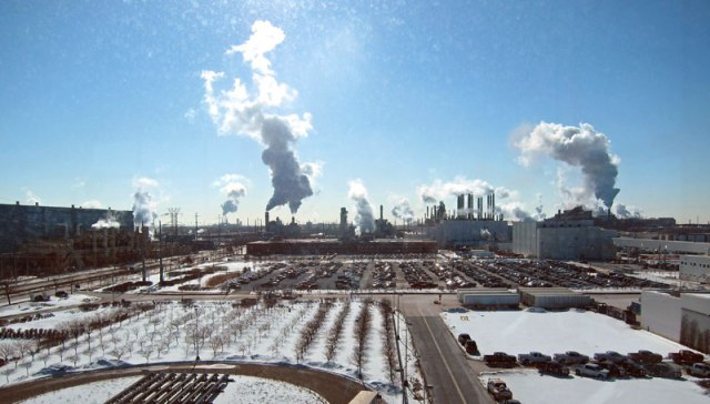 View of the Rouge River Plant from the observation roof.