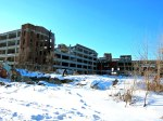 Another Packard plant building, with foreground already demolished.