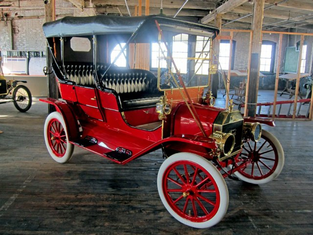 The museum's prize - a 1909 Model T Ford Touring Car - Just like my Dad's 1910