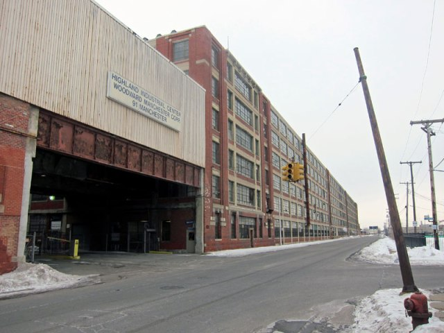 The south side of the Highland Avenue Plant. This entrance opens to the interior where the iconic images and videos were taken with tons of Model Ts rolling out.