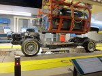 """The """"body drop"""" in """"America's Motor City"""" exhibit - part of an actual assembly line."""