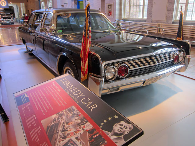 Car in which Kennedy was riding when shot