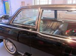 Reworked and used several more years, this is the back seat where JFK sat when shot.