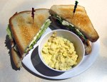 My Club Sandwich at the diner here, with the best potato salad ever.