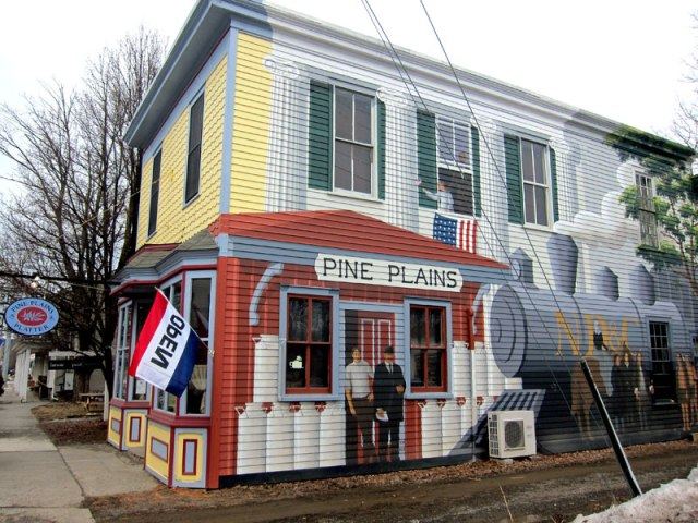 Downtown Pine Plains. Gives me an idea for my house, or better yet the east side of the Town Hall.