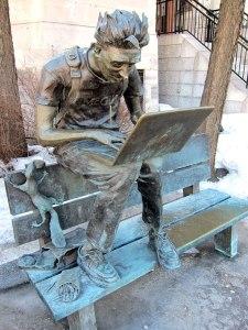 A McGill student hard at work.