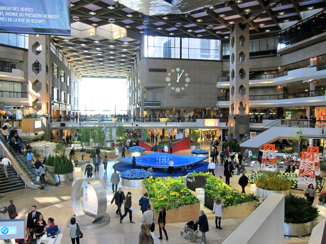 """COMPLEXE DESJARINS - just one """"mall"""" sandwiched between buildings unobtrusively and connected underground to everywhere else."""