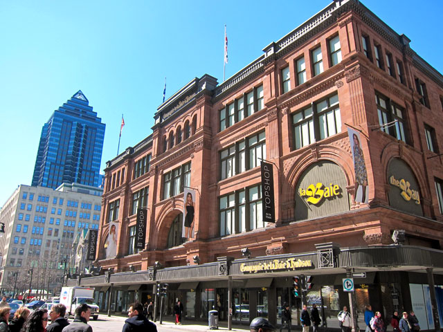 THE BAY - Hudson's Bay Company store in Montreal.
