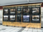 The old information panel has history of the station