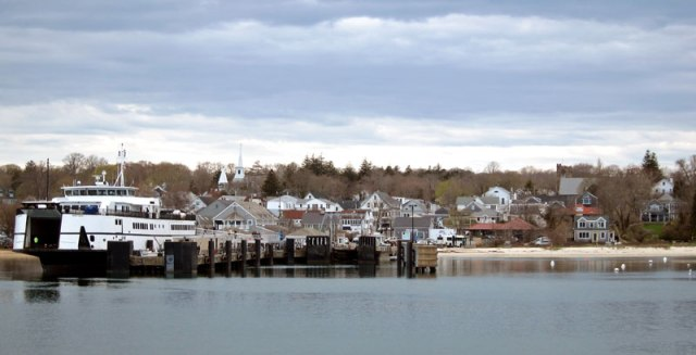 ARRIVING BY FERRY IN VINEYARD HAVEN