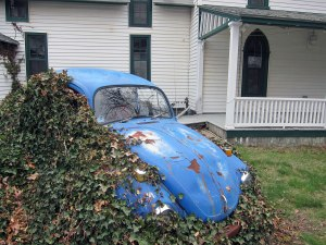 Parked lawn ornament on a side street.