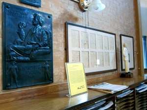Mark Twain's original dedication speech, and letter written about the library.