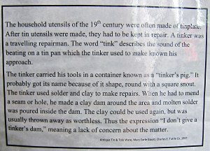 Enlarge to read this about the tinker.