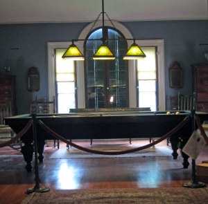 Billiard room. I learned that billiards is played differently from pool.