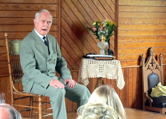 Jim Cooke, famed Calvin Coolidge-actor, in his final performance.