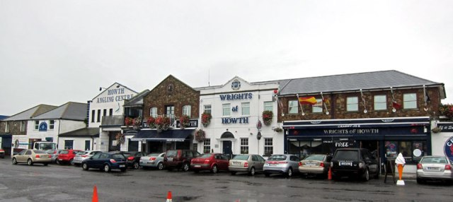 Shops on pier in Howth