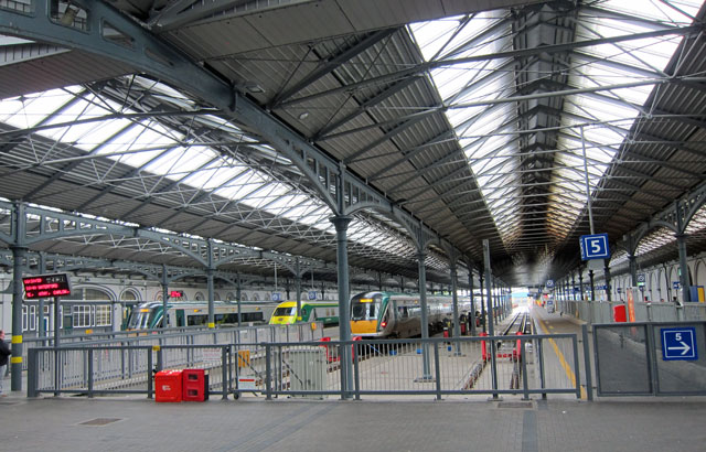 Train Shed in Heuston Station in Dublin
