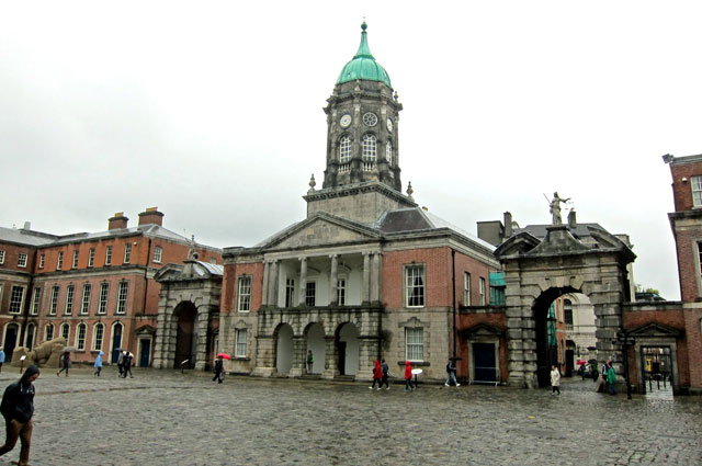 Inside the courtyard at Dublin Castle
