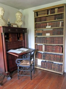 Front room in house with (as I recall) one of Hawthorne's bookcases (or Emerson)