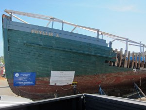 A 1925 fishing boat now being restored.