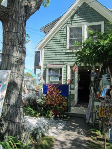 Typical Rocky Neck Art Colony shop in East Gloucester, Mass.