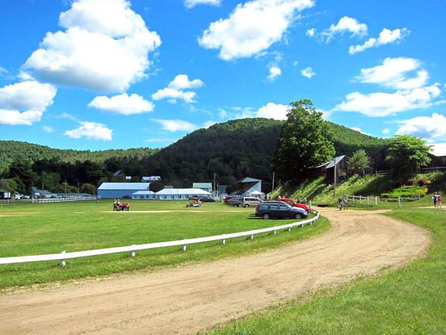 Entering the Tunbridge World's Fair grounds for the 2014 Vermont History Fair.