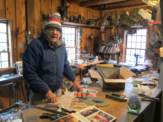 Dave Claggett, resident tinsmith in Weston.
