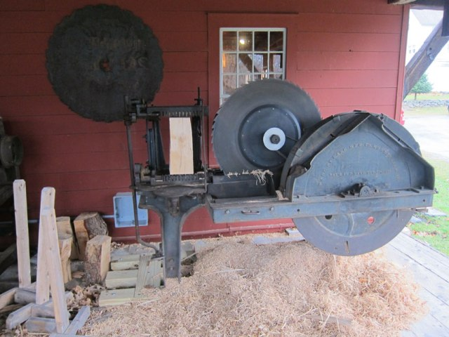 Fascinating machine to make shingles. I must return to see how it operates.