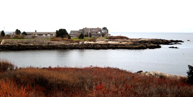 Walker Point, Kennebunkport on a rainy day.
