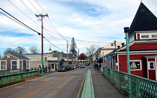 """Entering the """"fray"""" at Kennebunkport, Maine"""
